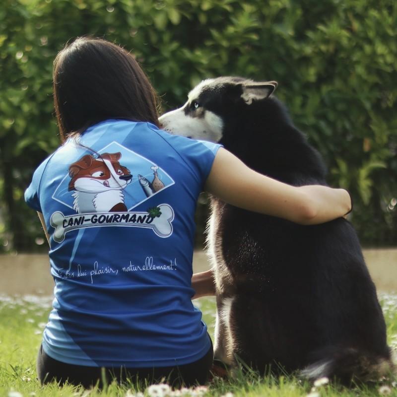 T-shirt Cani-gourmand sport respirant chien husky