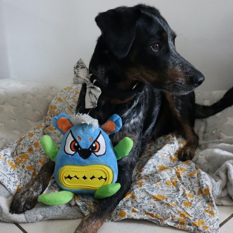 Jouet monstre distributeur de friandises pour occupation du chien chiot education positive