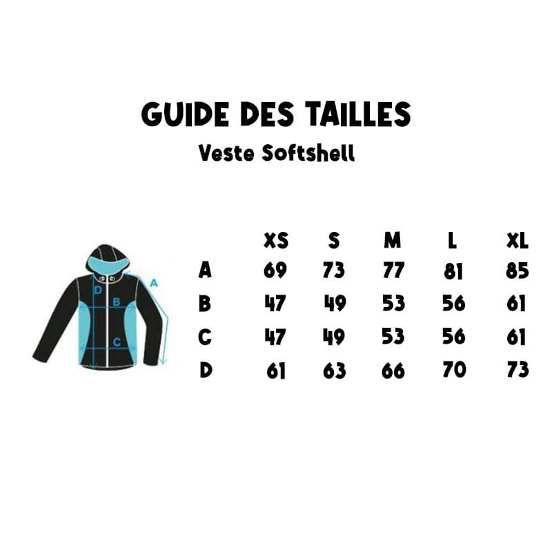 guide des tailles veste sport canin agility canicross softshell