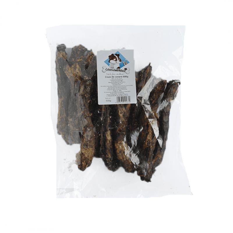 Cous de canard séché à macher pour chien friandise naturelle chiot