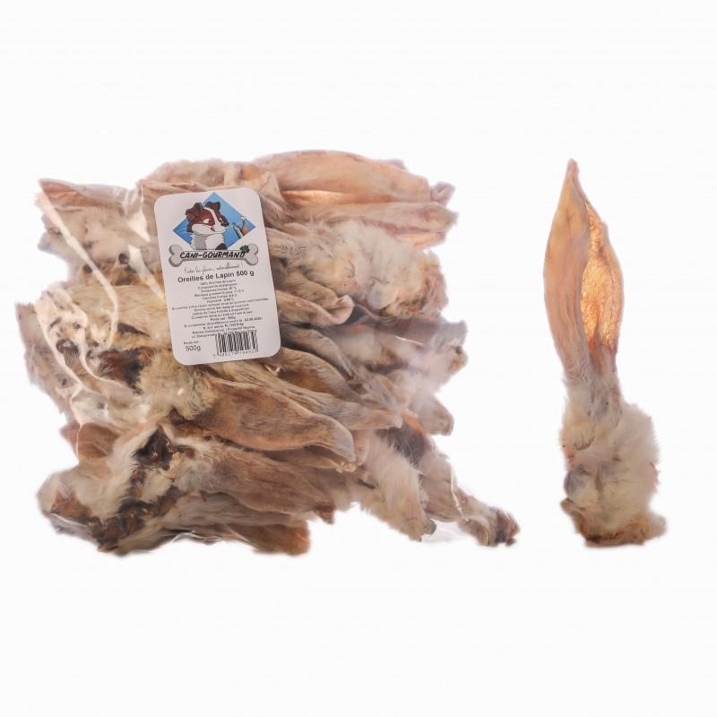 oreille de lapin friandise naturelle pour chien