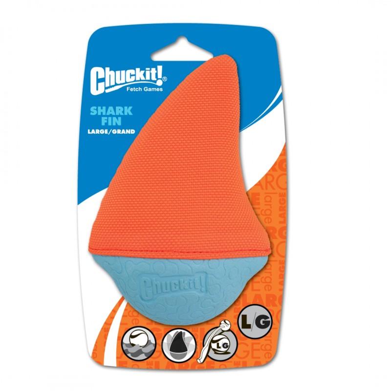 chuckit shark diver medium orange flotteur jouet qui flotte chien eau été